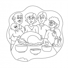 The Family Having Thanksgiving Meal