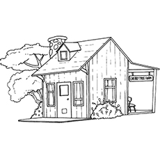 beautiful house coloring pages keep little one busy 0086711