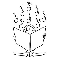the fat singer - Music Notes Coloring Pages