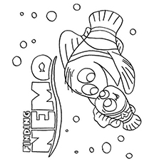 finding nemo poster nemo and gang coloring pages - Finding Nemo Coloring Pages Bruce