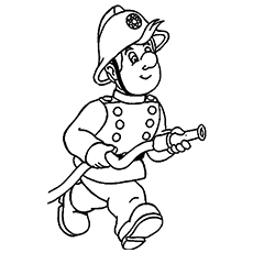 printable fire man fighting fire coloring sheets - Fire Coloring Pages