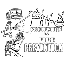 Fire Safety Precautions Coloring Pages