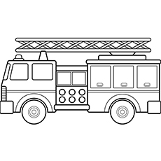 Firefighter Truck Coloring Pages For Little Ones