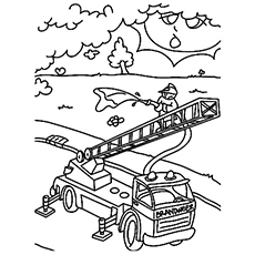 Fireman In Service Coloring Pages