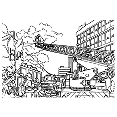 Free Printable Firemen At Work Coloring Pages
