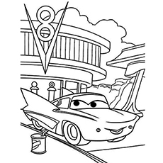the flo - Free Disney Cars Coloring Pages To Print