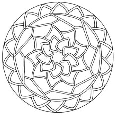 Abstract of Flower Rangoli Pattern Coloring Page