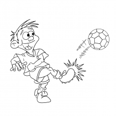 The Funny Boy Playing Soccer