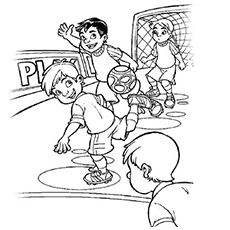Soccer Game in Progress Coloring Pages