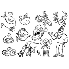finding nemo coloring pages coloring pages to download.html