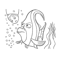 the gill nemo gurgle is a royal gramma fish coloring pages - Finding Nemo Coloring Pages Bruce