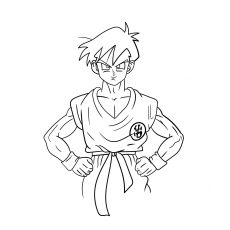 The Goten Character of Dragon Ball Z Coloring Pages