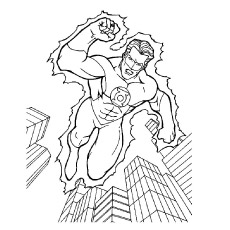 Green Lantern Possess Ring of Power Coloring Pages