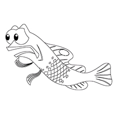 Nemo Gurgle is a Royal Gramma Fish Coloring Pages