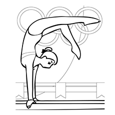Gymnastics Coloring Page to Print