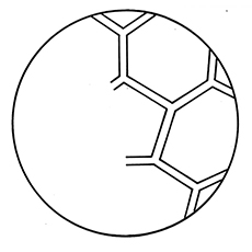 Half A Soccer Ball Coloring Pages