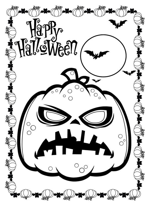 The-Halloween-Pumpkin-And-Bats