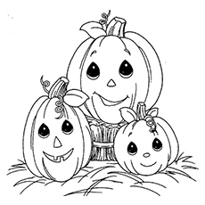 Top  Free Printable Halloween Pumpkin Coloring Pages Online