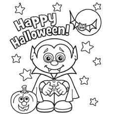 halloween vampire vampire mina harker coloring pages - Cute Halloween Bat Coloring Pages