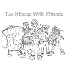 The Hiccup With Friends Color To Print