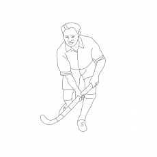 The Hockey Coloring pages