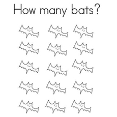 How Many Bats Coloring Sheet Printable