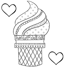 the ice cream art - Coloring Page Ice Cream Cone