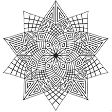 intricate flower pattern coloring page
