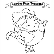The Is Earth Day Coloring