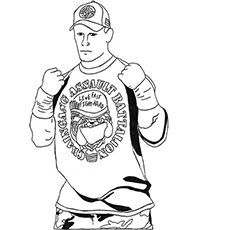 15 best john cena coloring pages for your little ones - Wwe Pictures To Colour