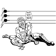 Coloring Page Wwe Kids John Cena - Coloring Home | 230x230