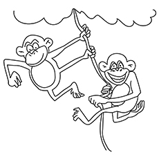 The-Jungle-Monkey-16 coloring pages