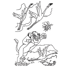 Kion Animal Colouring Sheet