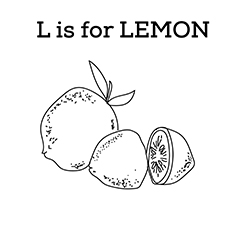 The L For Lemon coloring