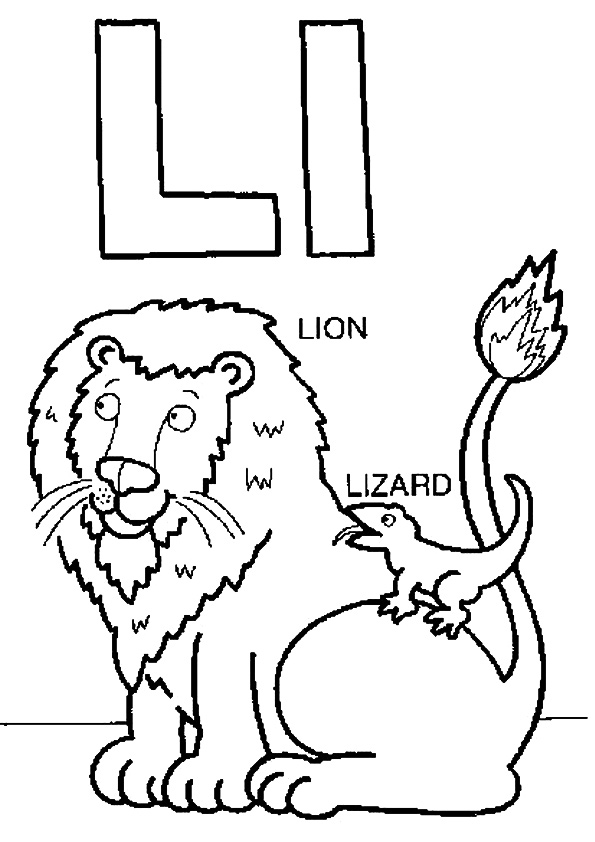The-L-For-Lion-And-Lizard
