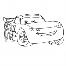 The Lightnin Mcqueen Coloring