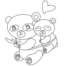 the little panda color to print - Panda Coloring Page