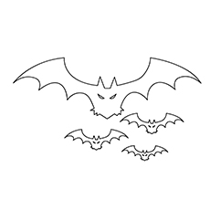 The Looking Halloween Bat Coloring Pages