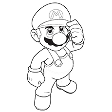 Mario Color Pages Free