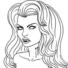 Vampire Mina Harker Coloring Pages