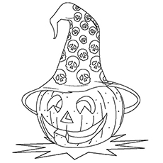 Mr Hatty The Halloween Pumpkin Coloring Page to Print
