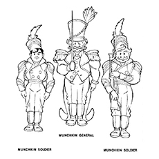 grand wizard of oz munchkins coloring page to print