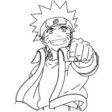 the naruto uzumaki coloring - Naruto Coloring Pages