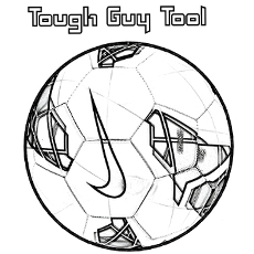 brand nike soccer ball half a soccer ball coloring pages