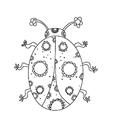 The Ornate Lady bug coloring pages