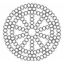 pattern with dots coloring pages