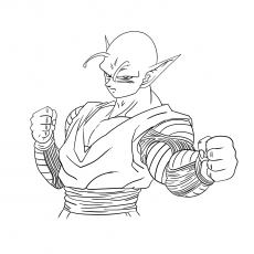 Piccolo Character Coloring Sheet