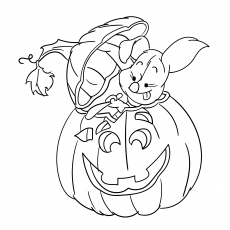 The Piglet Carving Halloween Pumpkin