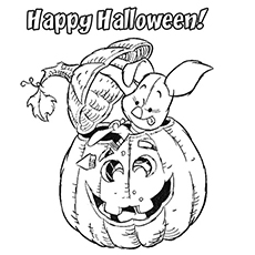 Piglet Carving from Halloween Pumpkin Coloring Page Free Printable