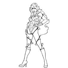Poison Ivy Coloring Pages